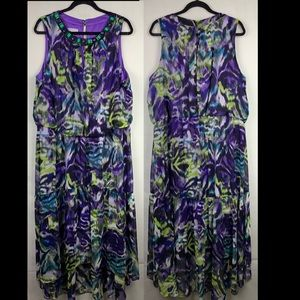 London Times High Low Dress Size 22W Sleeveless